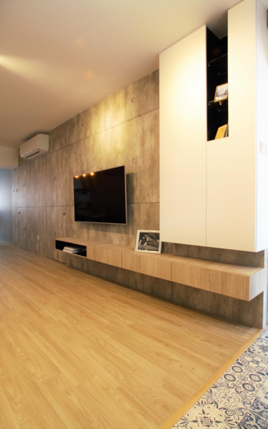 Industrial, HDB, Shunfu, Interior Designer, Intrigue-d Design Consultancy, Scandinavian, Fireplace, Hearth