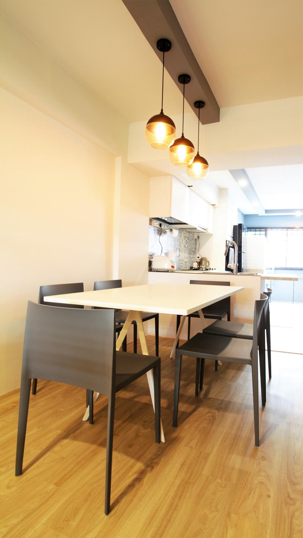Industrial, HDB, Shunfu, Interior Designer, Intrigue-d Design Consultancy, Scandinavian, Chair, Furniture, Dining Table, Table, Door, Sliding Door, Shelf, Dining Room, Indoors, Interior Design, Room