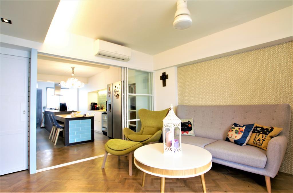 HDB, Marine Drive, Interior Designer, Intrigue-d Design Consultancy, Couch, Furniture, Chair, Indoors, Interior Design, Cushion, Home Decor