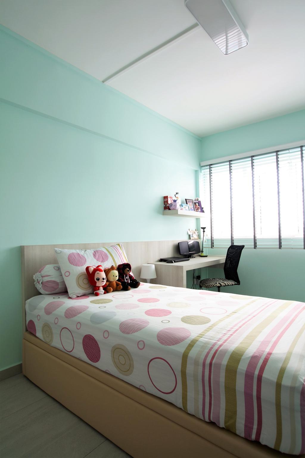 Scandinavian, HDB, Bukit Batok, Interior Designer, Intrigue-d Design Consultancy, Bedroom, Indoors, Interior Design, Room
