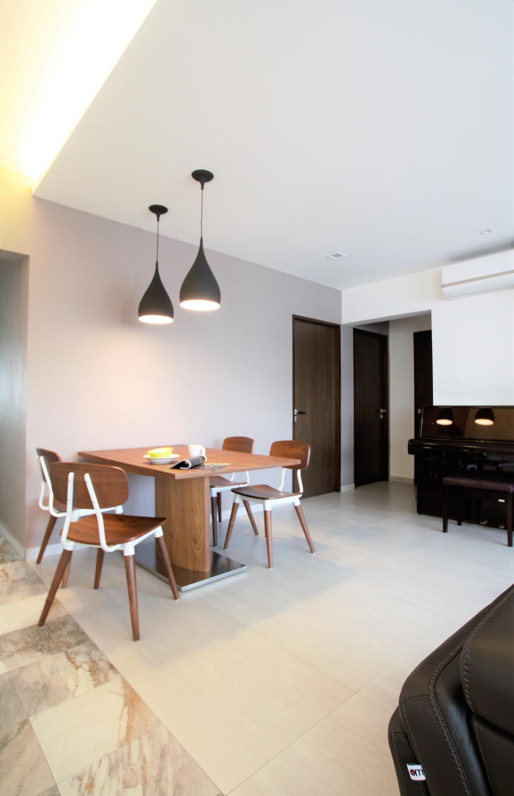 Scandinavian, HDB, Bukit Batok, Interior Designer, Intrigue-d Design Consultancy, Chair, Furniture, Dining Room, Indoors, Interior Design, Room, Dining Table, Table, Desk