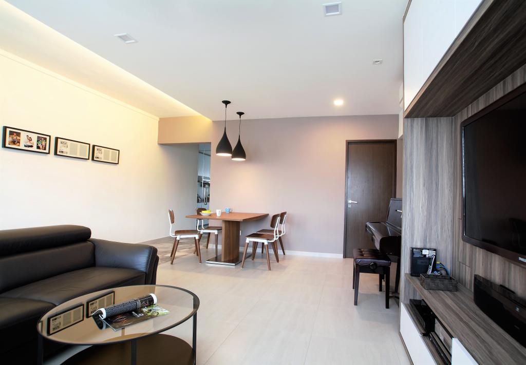 Scandinavian, HDB, Bukit Batok, Interior Designer, Intrigue-d Design Consultancy, Dining Table, Furniture, Table, Couch, Indoors, Interior Design