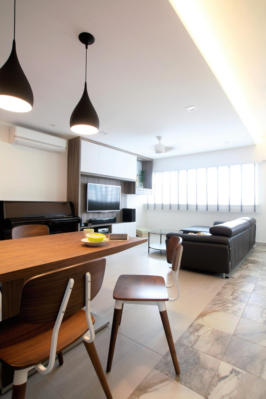 Scandinavian, HDB, Bukit Batok, Interior Designer, Intrigue-d Design Consultancy, Sink, Electronics, Entertainment Center, Home Theater, Couch, Furniture