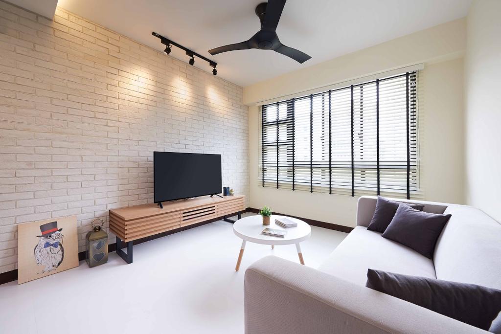 Scandinavian, HDB, Living Room, Punggol Field, Interior Designer, Posh Living Interior Design