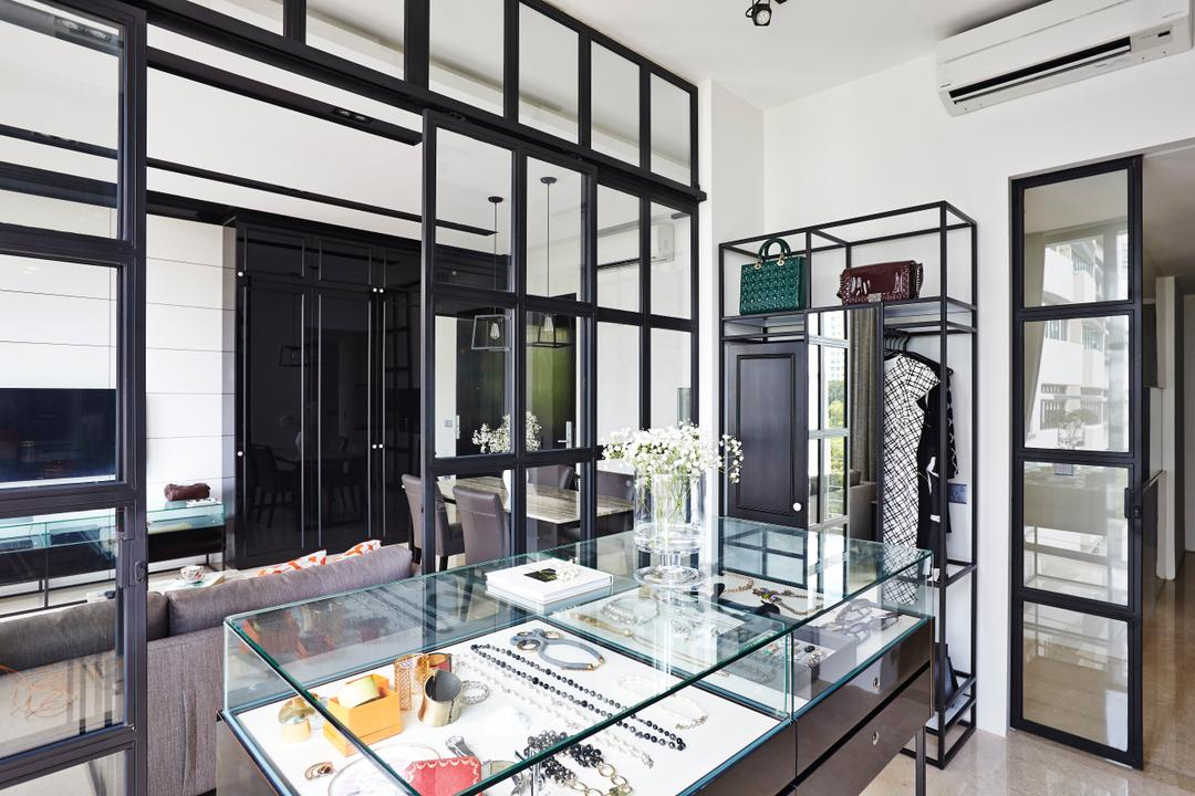 River Valley, Fuse Concept, Vintage, Living Room, Condo, Dresser, Walk In Wardrobe, Display Case, Display Shelf, Storage, Glass Display, Jewellery Display, Bag Storage, Window