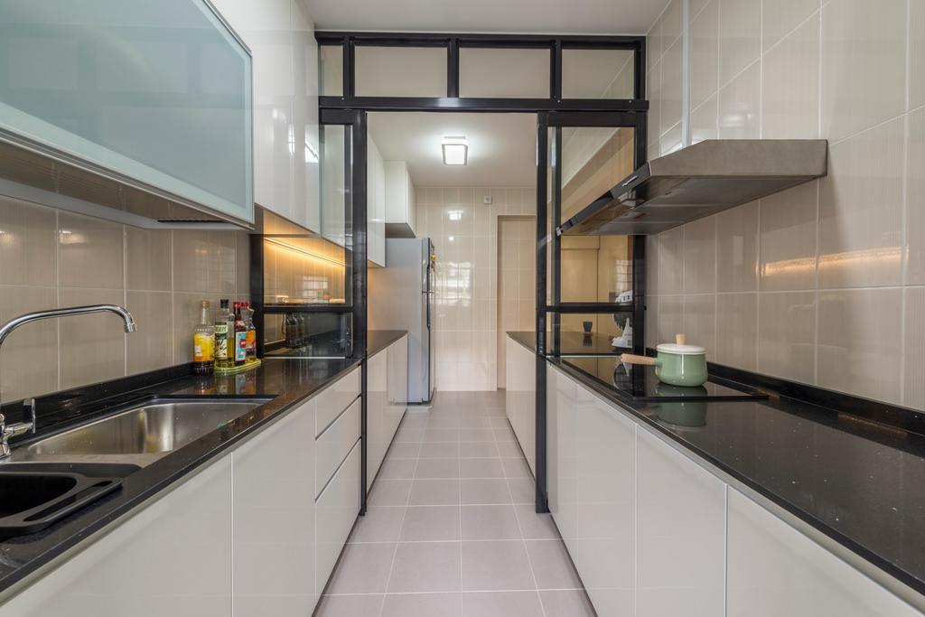 HDB, Kitchen, Sengkang West Way (Block 452A), Interior Designer, Colourbox Interior, Indoors, Interior Design, Room