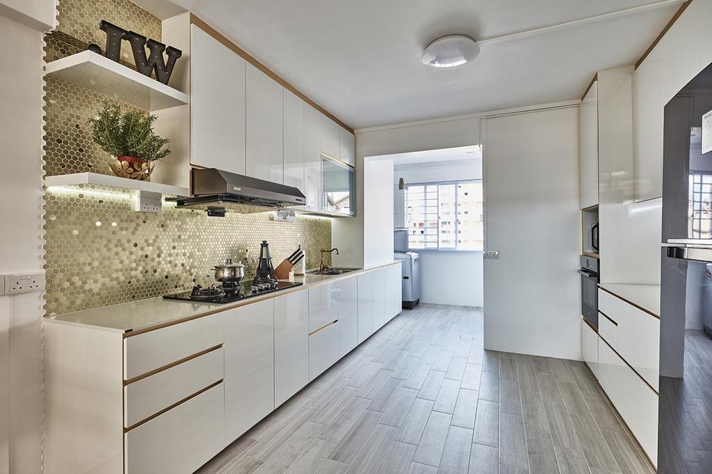 Modern, HDB, Kitchen, Bishan Street 23 (Block 215), Interior Designer, Voila, Indoors, Interior Design