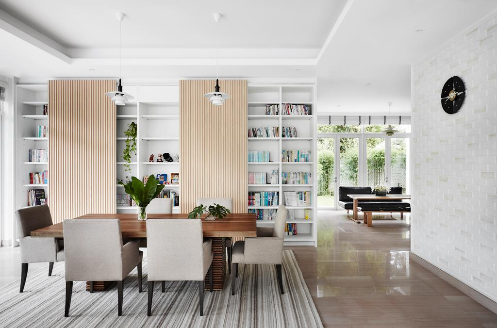 Contemporary, Landed, Dining Room, Cable Road, Interior Designer, Third Avenue Studio, Dining Table, Furniture, Table, Indoors, Interior Design, Room, Flora, Jar, Plant, Potted Plant, Pottery, Vase