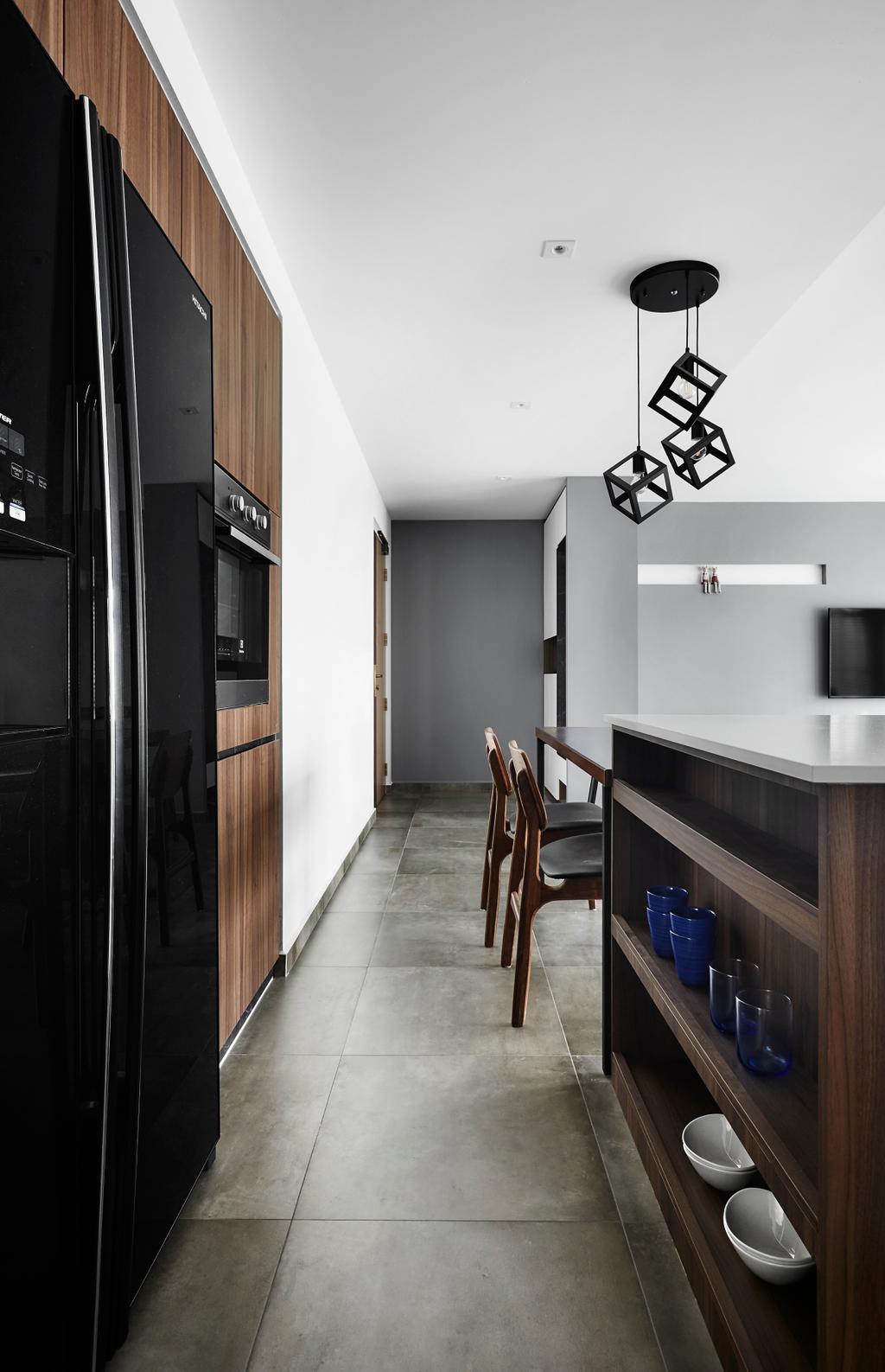 Contemporary, HDB, Kitchen, Compassvale Drive, Interior Designer, Third Avenue Studio, Chair, Furniture