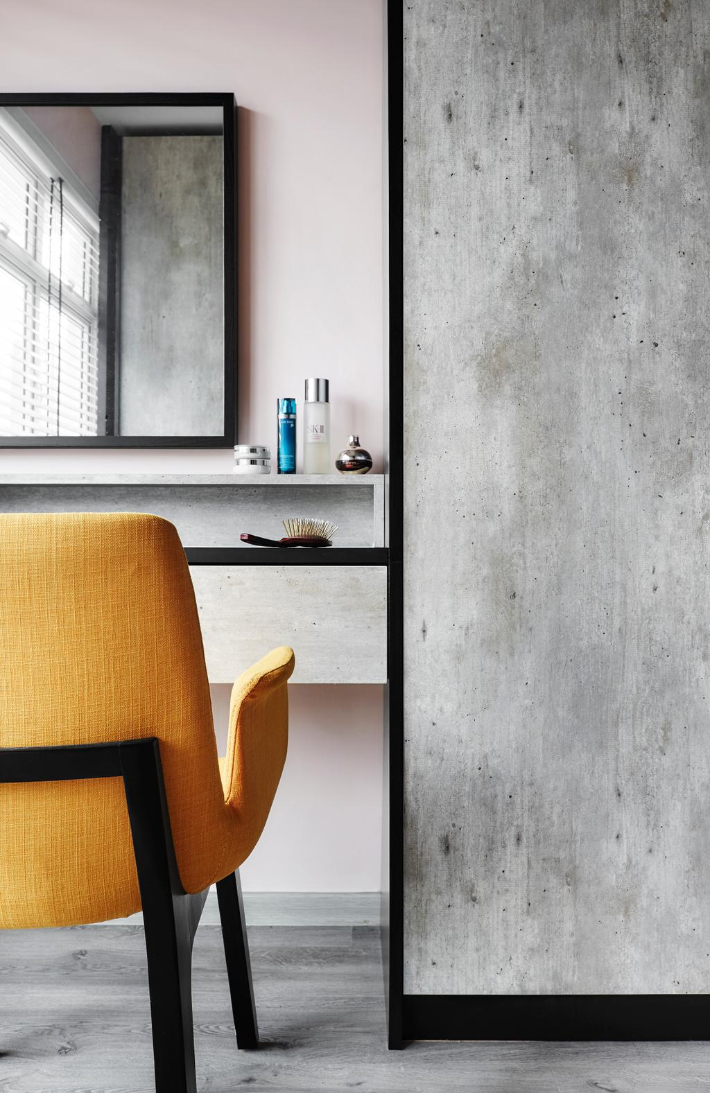 Contemporary, HDB, Bedroom, Compassvale Drive, Interior Designer, Third Avenue Studio, Chair, Furniture, Plywood, Wood