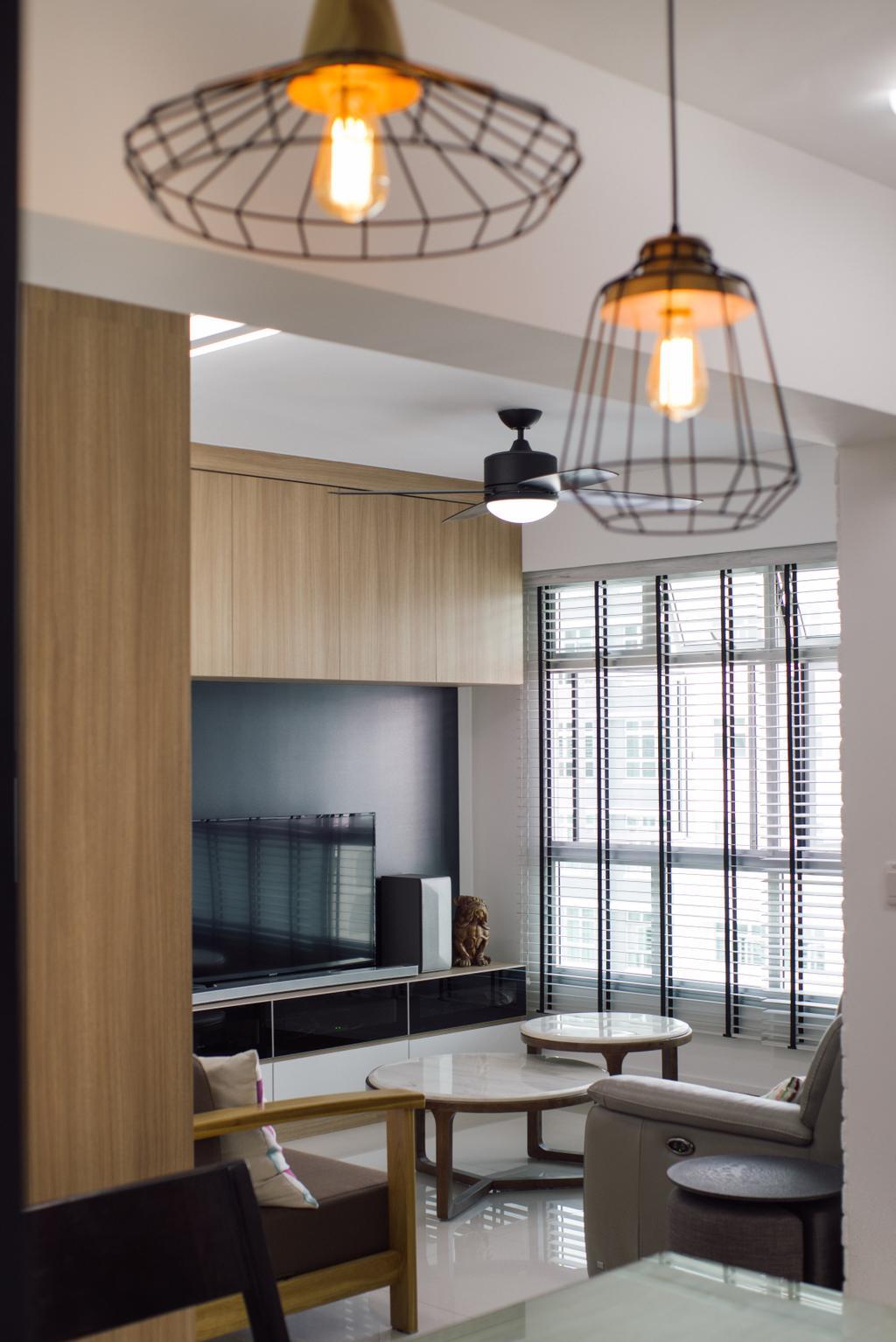 Modern, HDB, Living Room, Telok Blangah Heights (Block 70B), Interior Designer, Urban Habitat Design, Contemporary, Door, Sliding Door