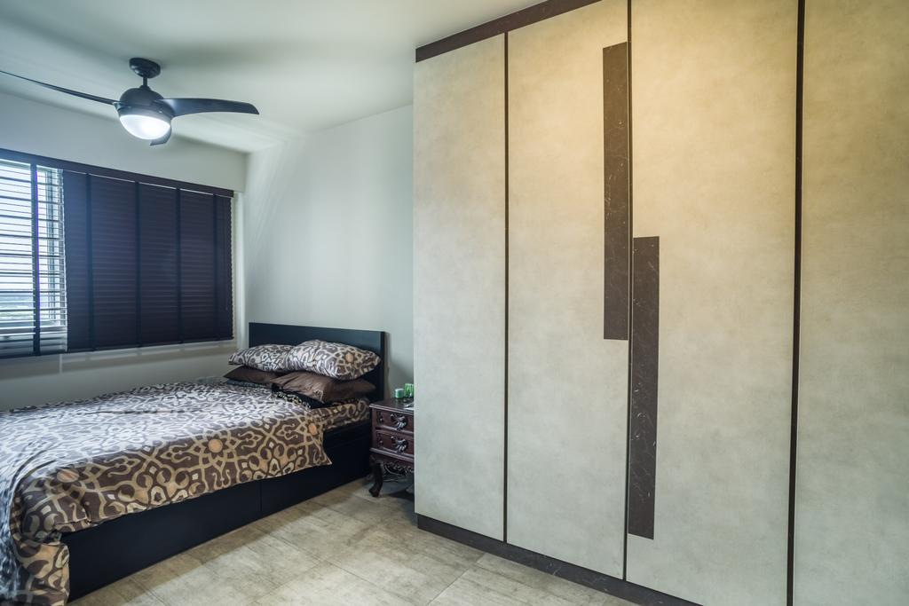 Eclectic, HDB, Bedroom, Boon Lay Avenue (Block 218D), Interior Designer, Urban Habitat Design, Indoors, Interior Design, Room, Bed, Furniture
