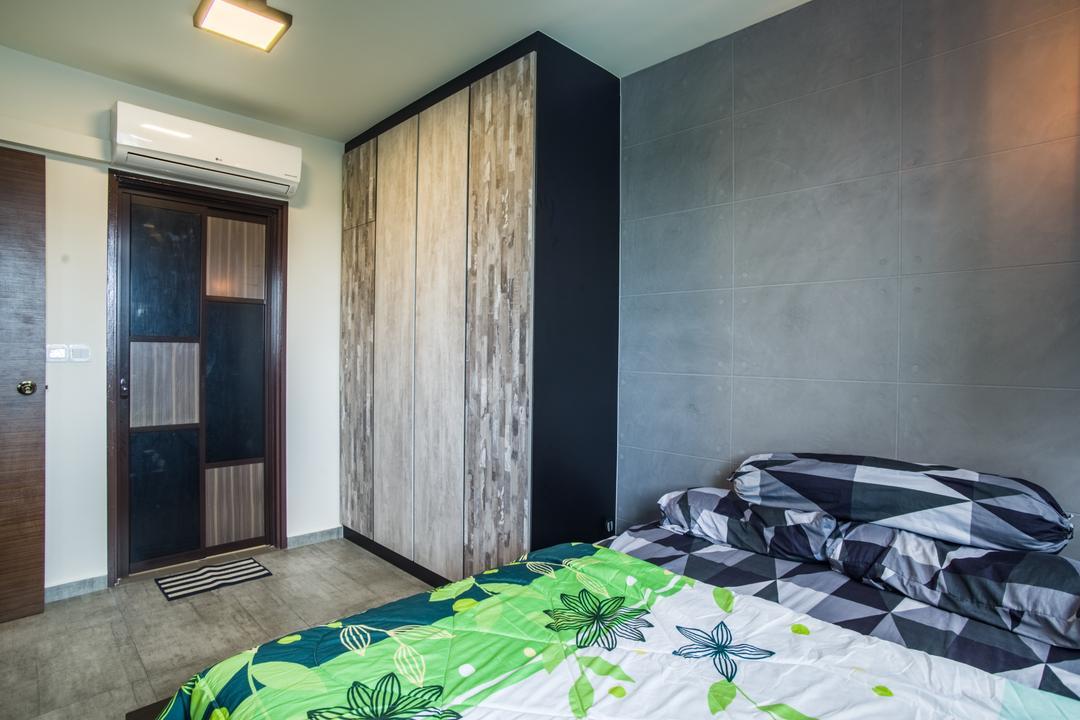 Boon Lay Avenue (Block 218D), Urban Habitat Design, Eclectic, Bedroom, HDB, Paper, Indoors, Interior Design, Room, Home Decor, Quilt