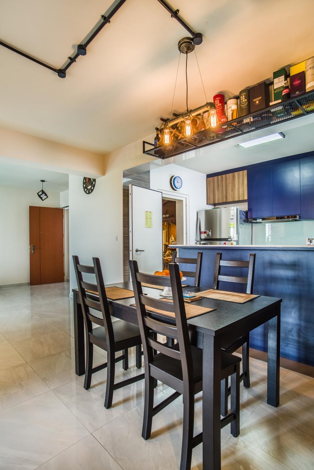 Eclectic, HDB, Dining Room, Boon Lay Avenue (Block 218D), Interior Designer, Urban Habitat Design, Chair, Furniture, Indoors, Interior Design, Room