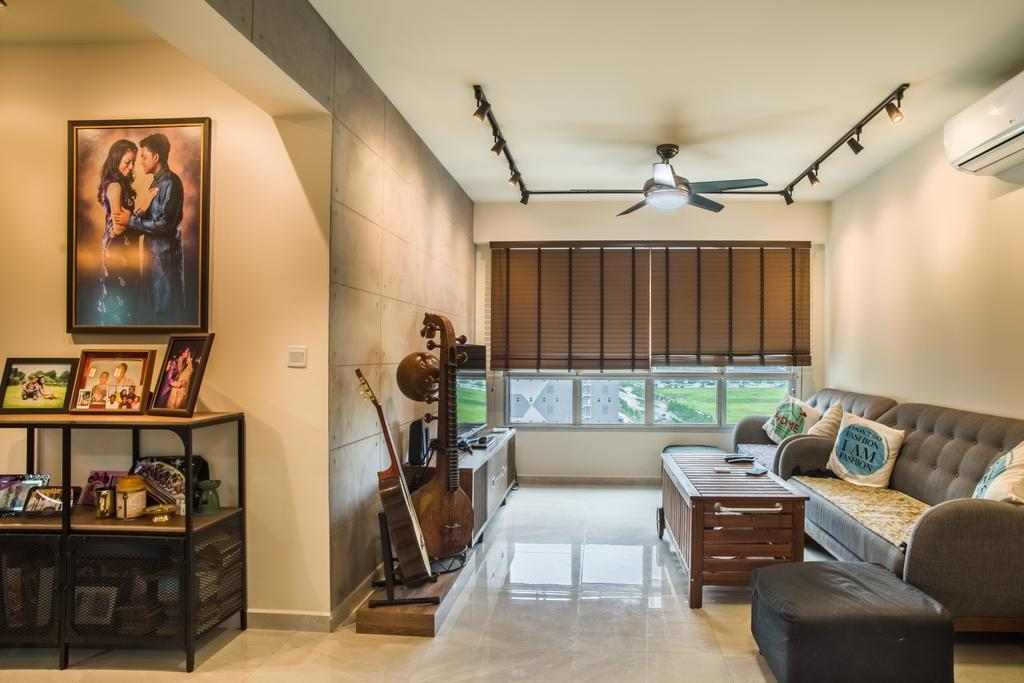 Eclectic, HDB, Living Room, Boon Lay Avenue (Block 218D), Interior Designer, Urban Habitat Design, Couch, Furniture, Flooring, Dining Room, Indoors, Interior Design, Room, Drawer