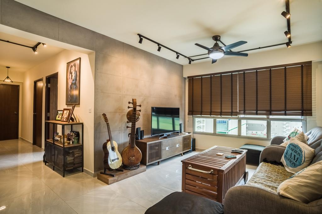 Eclectic, HDB, Living Room, Boon Lay Avenue (Block 218D), Interior Designer, Urban Habitat Design, Couch, Furniture