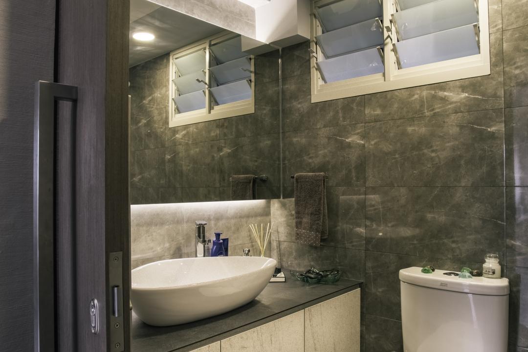 Compassvale Link (Block 277D), Urban Habitat Design, Modern, Bathroom, HDB, Indoors, Interior Design, Room, Drinking Fountain, Fountain, Water