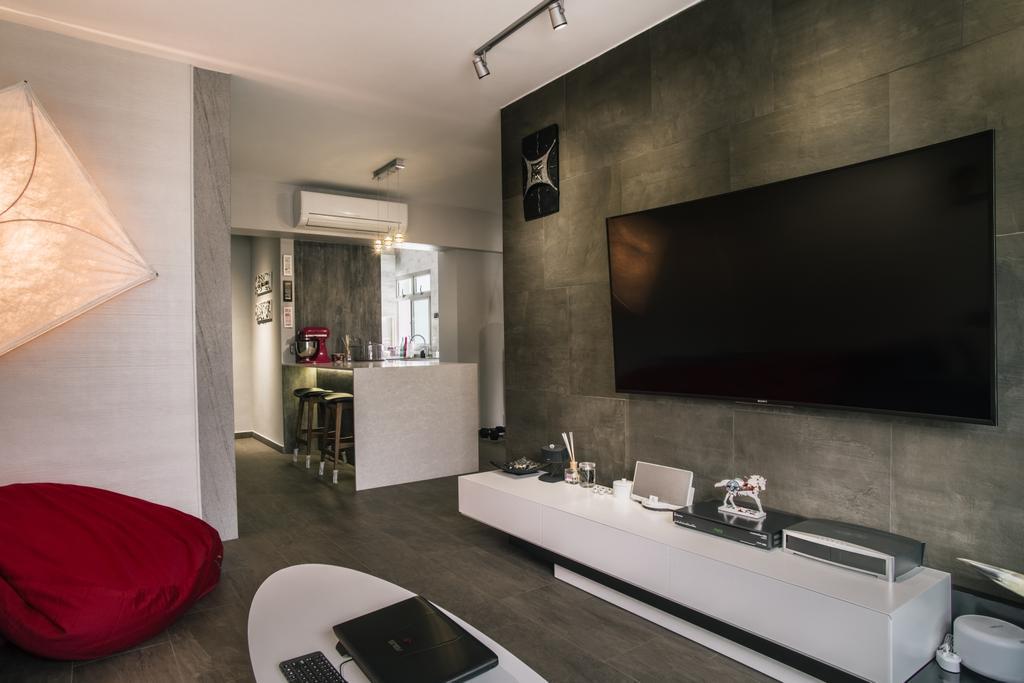 Modern, HDB, Living Room, Compassvale Link (Block 277D), Interior Designer, Urban Habitat Design, Bathroom, Indoors, Interior Design, Room