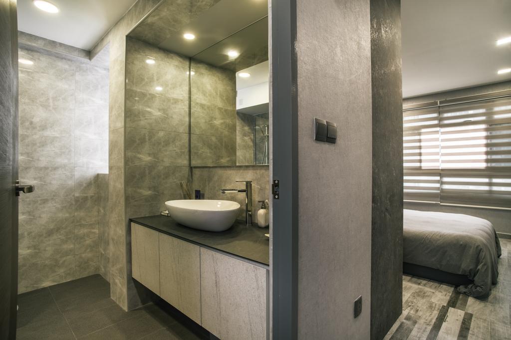 Modern, HDB, Bathroom, Compassvale Link (Block 277D), Interior Designer, Urban Habitat Design, Indoors, Interior Design, Room