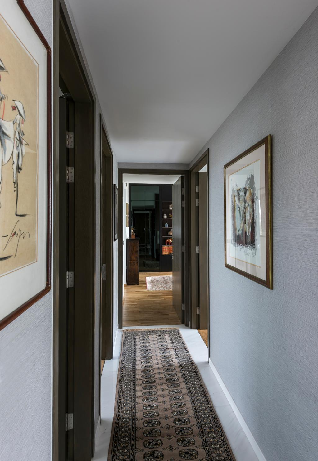 Contemporary, Condo, Nathan Suites, Interior Designer, Third Avenue Studio, Hallway, Corridor