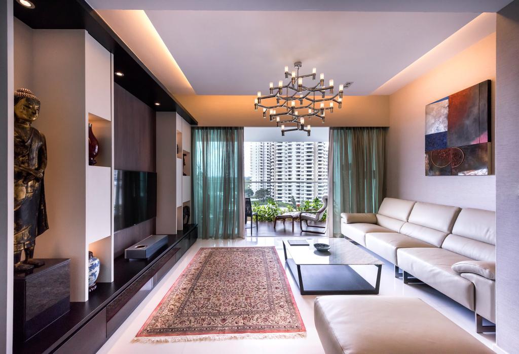 Contemporary, Condo, Living Room, Nathan Suites, Interior Designer, Third Avenue Studio, Indoors, Interior Design, Art, Couch, Furniture, Appliance, Electrical Device, Oven