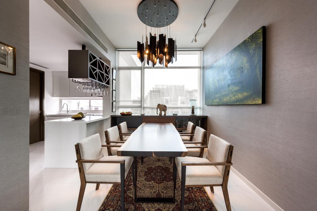 Contemporary, Condo, Dining Room, Nathan Suites, Interior Designer, Third Avenue Studio, Chair, Furniture, Indoors, Interior Design, Room, Dining Table, Table, Blackboard