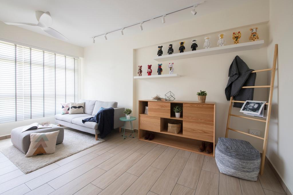 Minimalistic, HDB, Keat Hong (Block 812A), Interior Designer, KDOT, Couch, Furniture