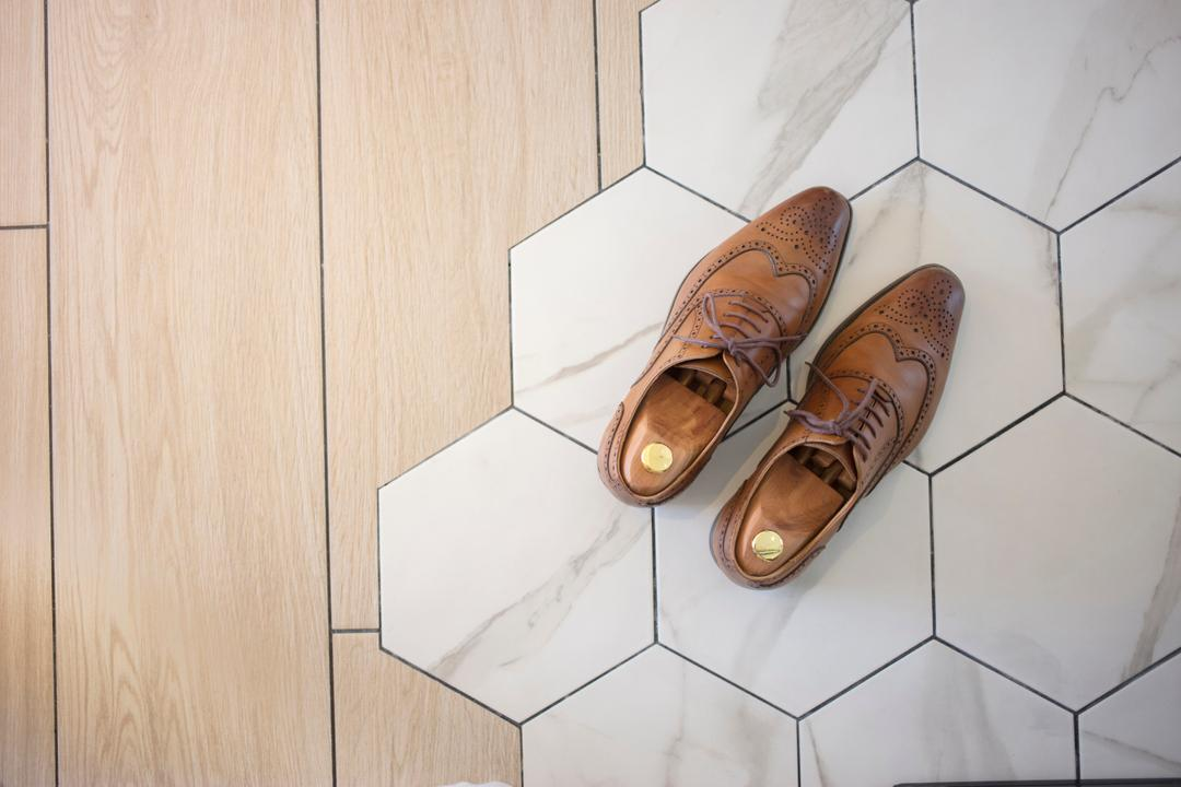 Keat Hong (Block 812A), KDOT, Minimalistic, HDB, Honeycomb Tiles, Honeycomb, Hexagonal Tiles, Hexagon, Floor Design, Feature Floor, Boot, Clothing, Cowboy Boot, Footwear, Riding Boot, Shoe