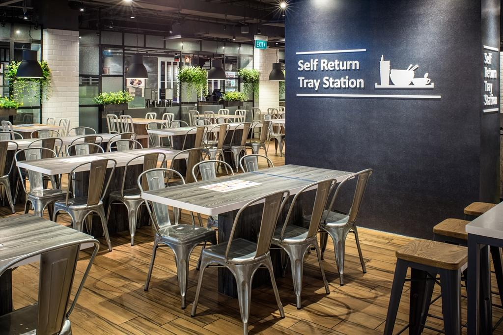 Foodfare Clifford Centre, Commercial, Architect, Wallflower Architecture + Design, Industrial, Chair, Furniture, Dining Table, Table, Cafe, Restaurant