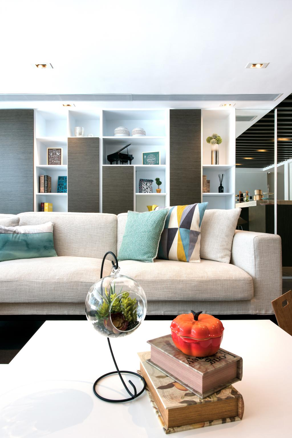 摩登, 獨立屋, 客廳, Casa Marina, 室內設計師, 畫斯室內設計, Couch, Furniture, Chair, Cushion, Home Decor, Jar