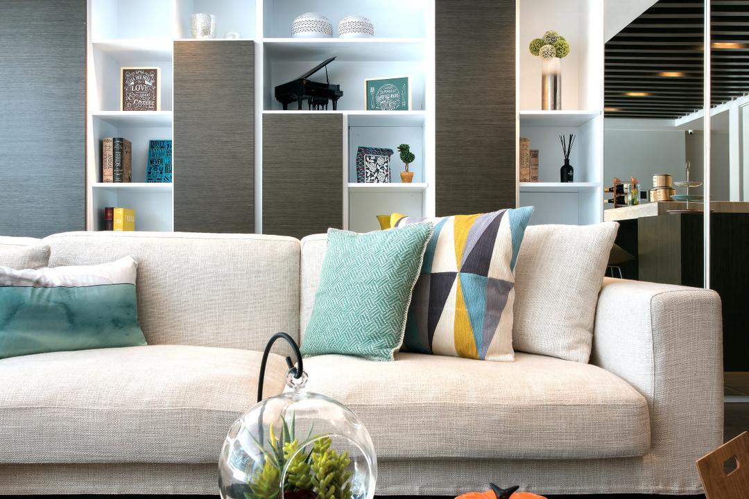 Casa Marina, 畫斯室內設計, 摩登, 客廳, 獨立屋, Couch, Furniture, Chair, Cushion, Home Decor, Jar