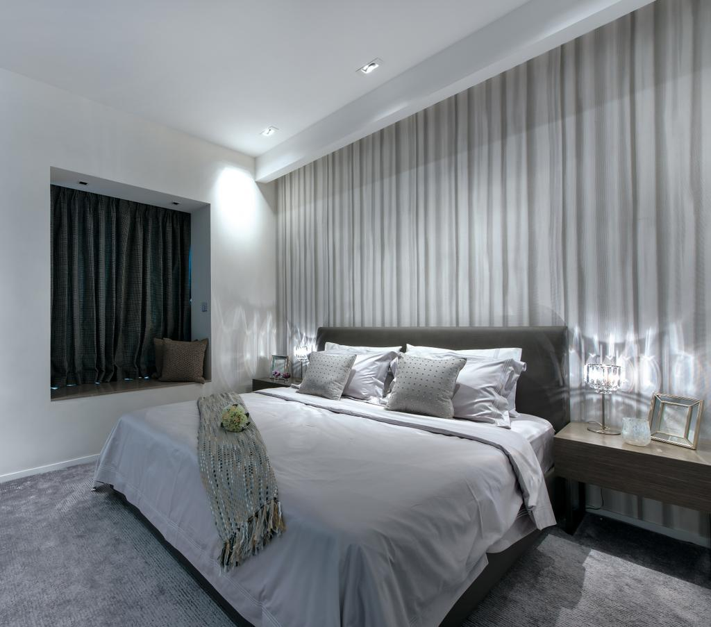 摩登, 獨立屋, 睡房, Casa Marina, 室內設計師, 畫斯室內設計, Indoors, Interior Design, Room, Home Decor, Linen, Tablecloth
