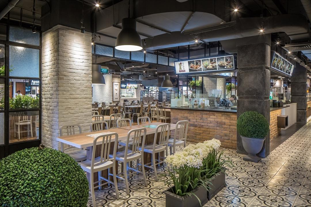 Foodfare Clifford Centre, Wallflower Architecture + Design, Industrial, Commercial, Chair, Furniture, Flora, Jar, Plant, Potted Plant, Pottery, Vase, Shop, Window Display, Restaurant, Cafe, Deck, Porch