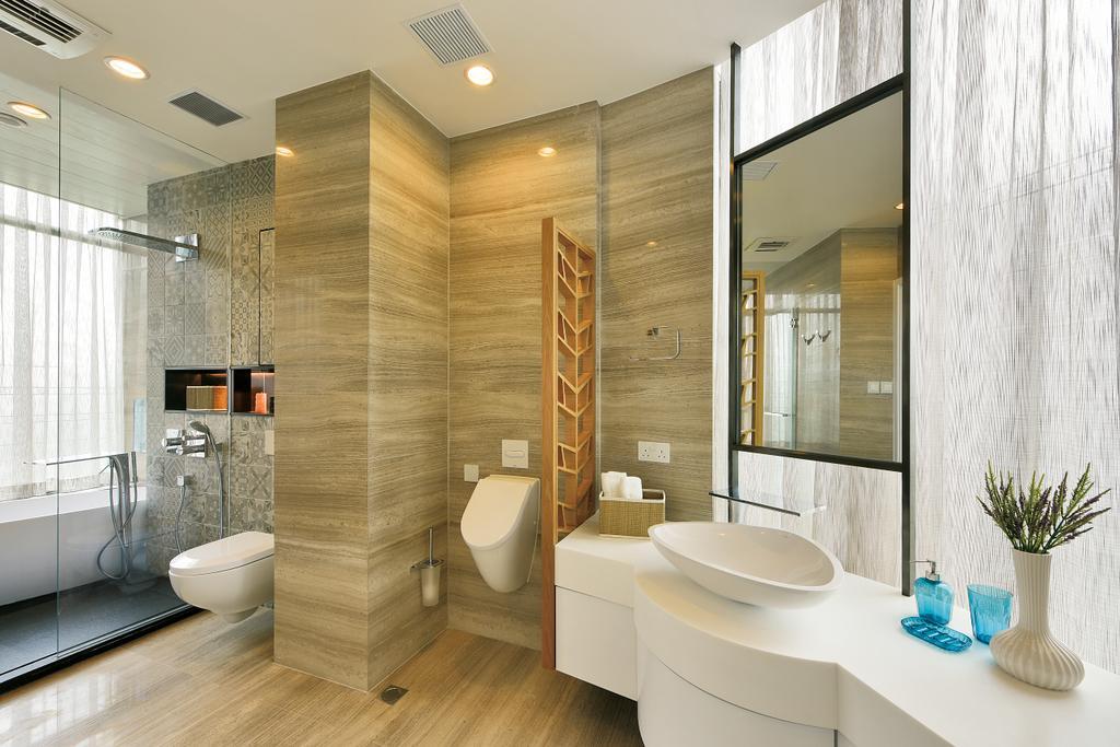 摩登, 私家樓, 浴室, Deerhill Bay, 室內設計師, 畫斯室內設計, 當代, 北歐, Indoors, Interior Design, Room, Toilet, Sink