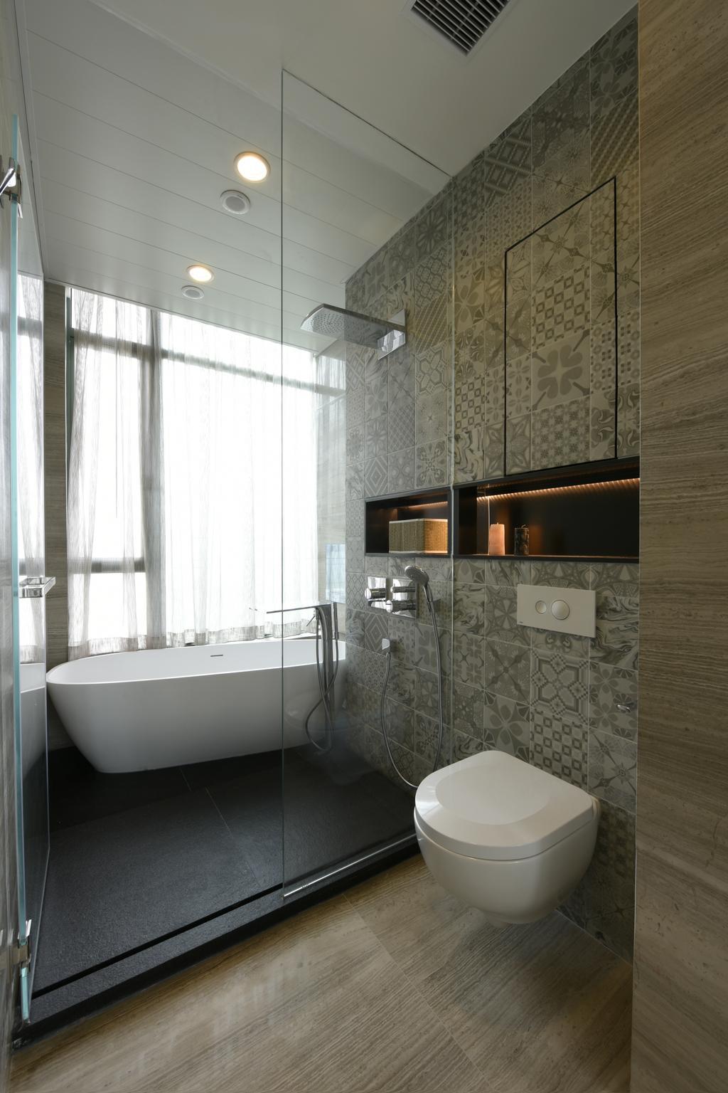 摩登, 私家樓, 浴室, Deerhill Bay, 室內設計師, 畫斯室內設計, 當代, 北歐, Indoors, Interior Design, Room
