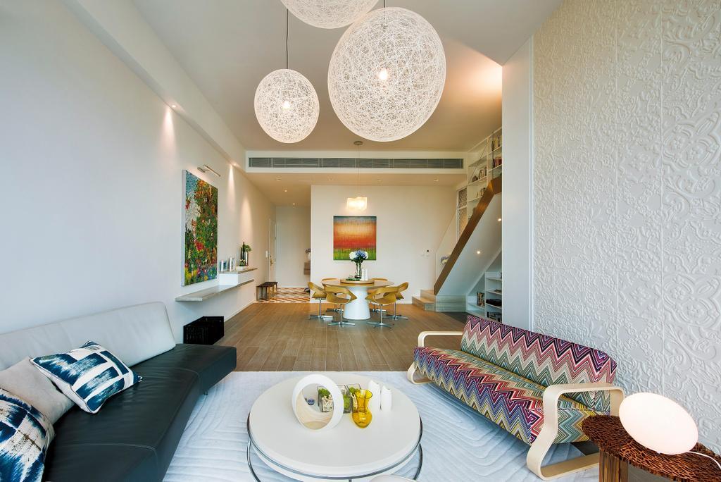 摩登, 私家樓, 客廳, Deerhill Bay, 室內設計師, 畫斯室內設計, 當代, 北歐, Couch, Furniture, Light Fixture, 飯廳, Indoors, Interior Design, Room, 睡房