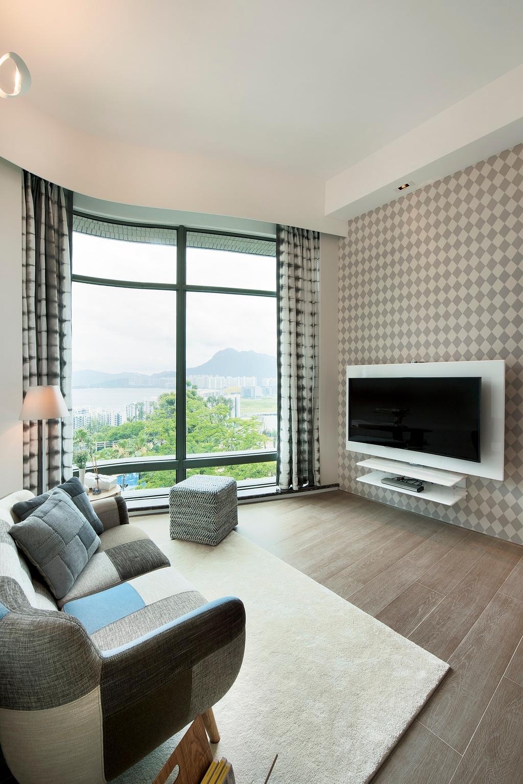 摩登, 私家樓, 客廳, Deerhill Bay, 室內設計師, 畫斯室內設計, 當代, 北歐, Indoors, Interior Design, Furniture, Ottoman