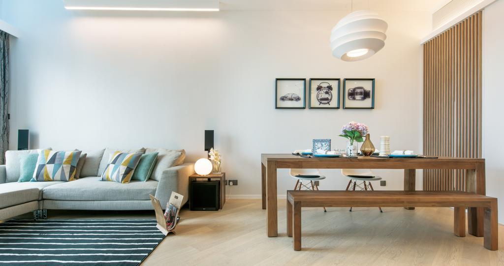 摩登, 私家樓, 客廳, The Providence Bay, 室內設計師, 畫斯室內設計, Couch, Furniture, Dining Table, Table
