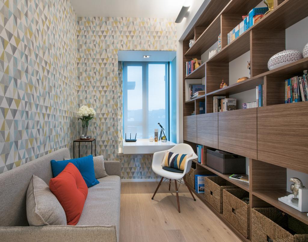 摩登, 私家樓, 睡房, The Providence Bay, 室內設計師, 畫斯室內設計, Chair, Furniture, Couch, Indoors, Interior Design