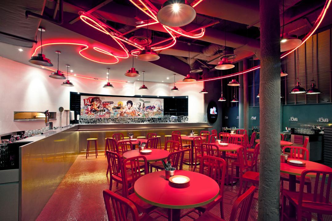 Alt. Pizza, designphase dba, Retro, Commercial, Diner, Food, Meal, Restaurant