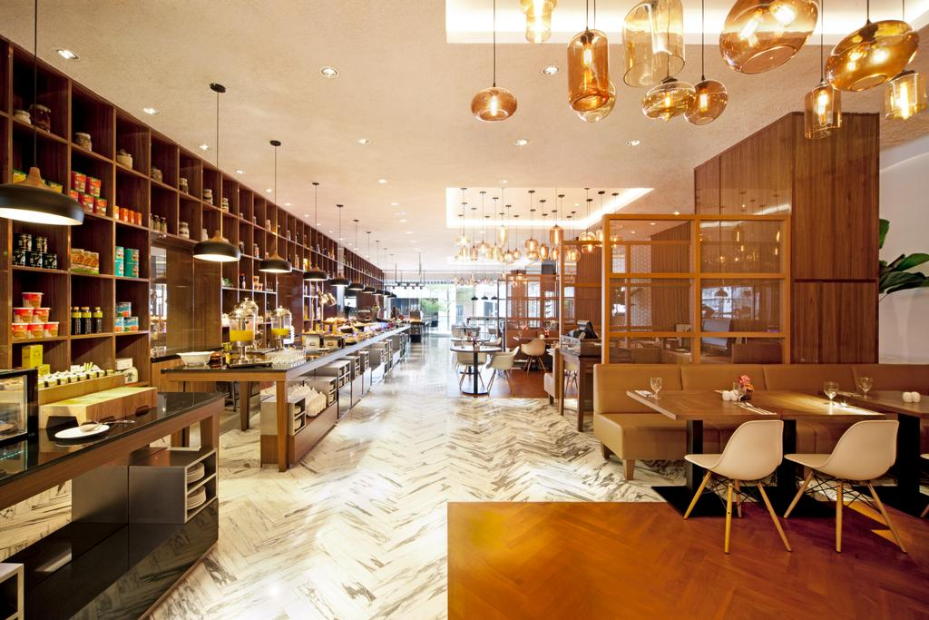 Amara Element Cafe, Commercial, Architect, designphase dba, Modern, Chair, Furniture, Dining Table, Table, Restaurant, Shop