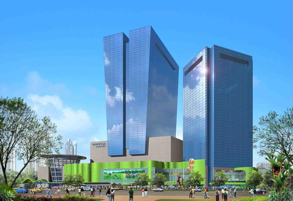 Novena Square Shopping Centre, Commercial, Architect, designphase dba, Modern, Building, Office Building, Architecture, City, High Rise, Skyscraper, Town, Urban, Downtown, Housing