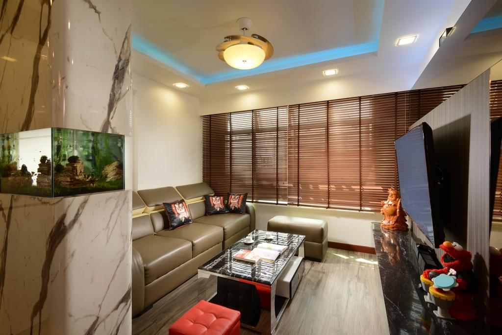 HDB, Living Room, Yishun Avenue 9 (Block 317A), Interior Designer, 96 Designers Group