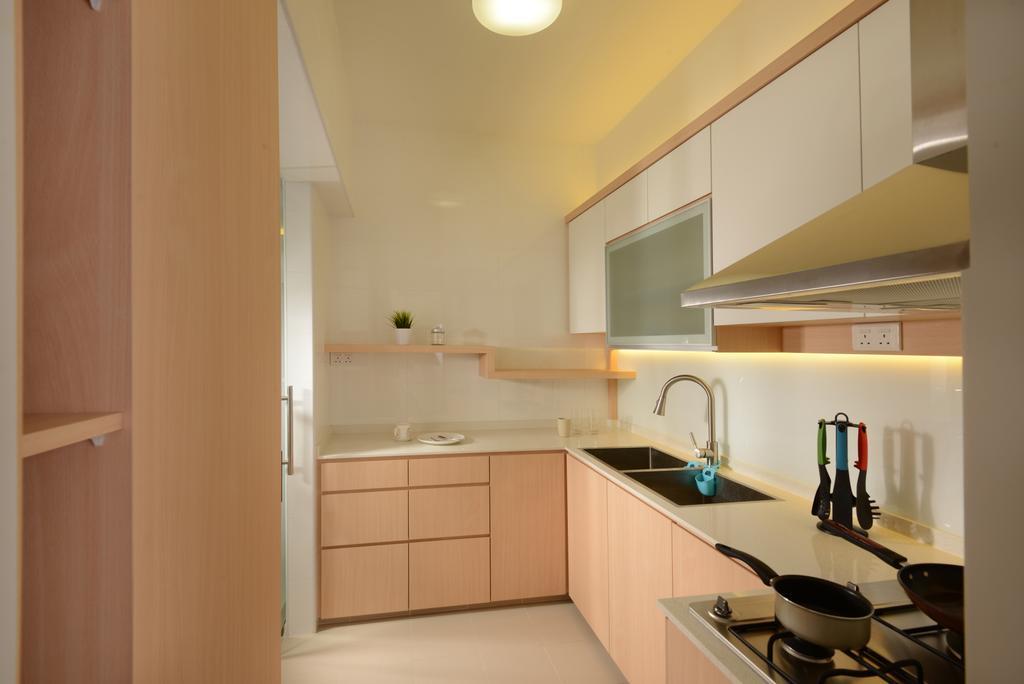 HDB, Kitchen, Sumang Walk (Block 217C), Interior Designer, 96 Designers Group
