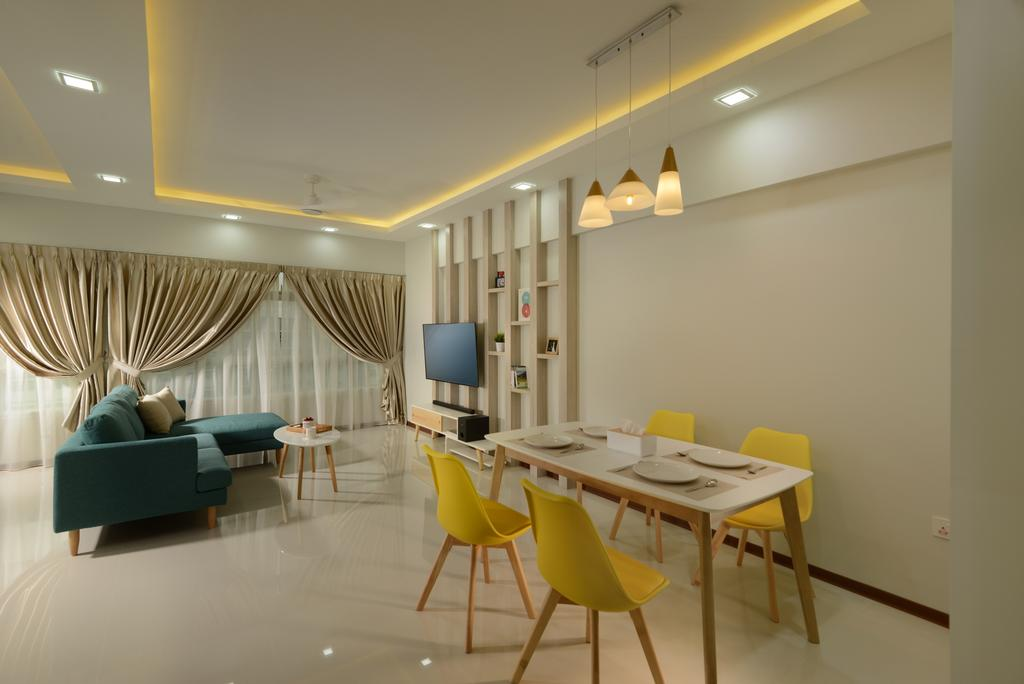 HDB, Living Room, Sumang Walk (Block 217C), Interior Designer, 96 Designers Group