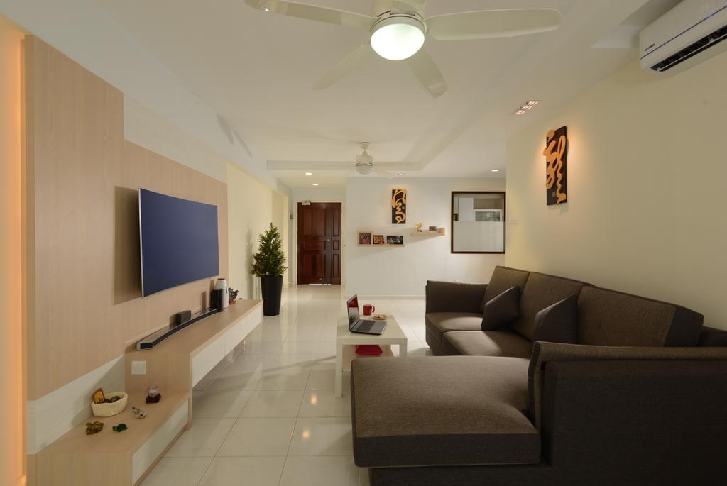 HDB, Living Room, Anchorvale Link (Block 316A), Interior Designer, 96 Designers Group