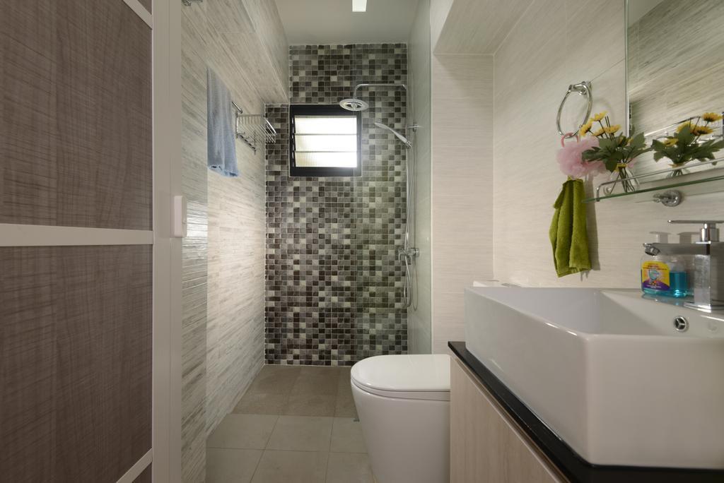 HDB, Bathroom, Anchorvale Link (Block 316A), Interior Designer, 96 Designers Group