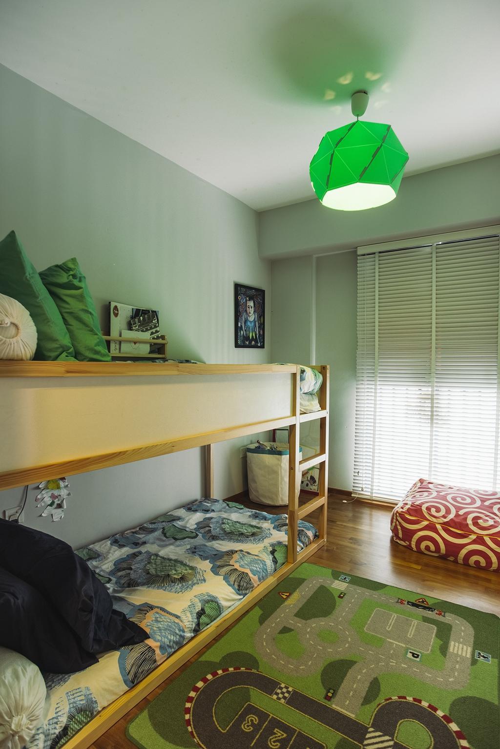 Contemporary, HDB, Bedroom, Cantonment, Interior Designer, Urban Habitat Design, Retro, Indoors, Interior Design, Room