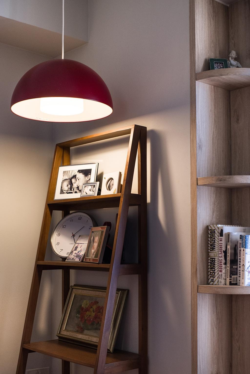 Contemporary, HDB, Bedroom, Cantonment, Interior Designer, Urban Habitat Design, Retro, Shelf, Clock