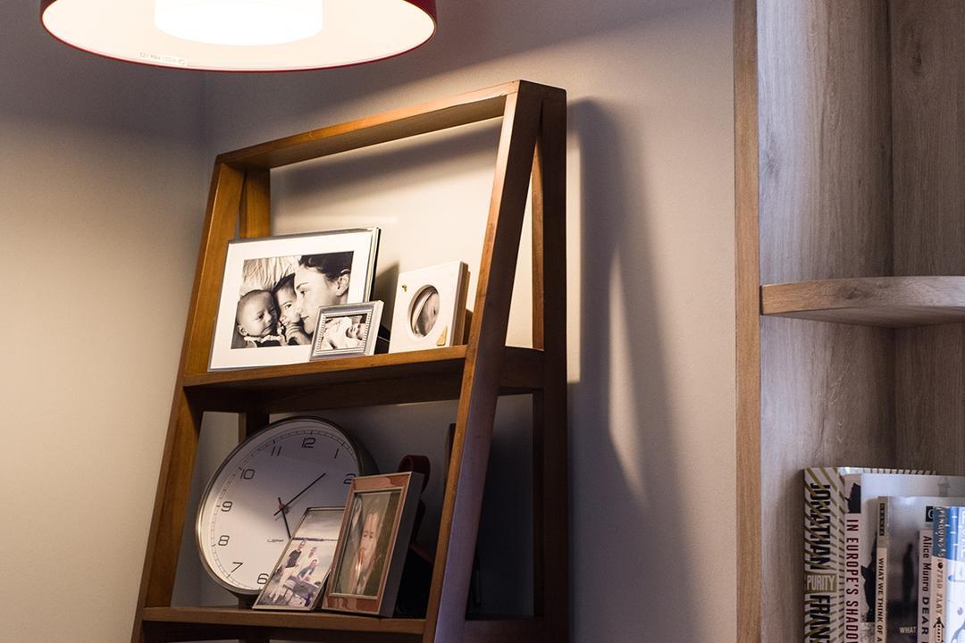 Cantonment, Urban Habitat Design, Contemporary, Retro, Bedroom, HDB, Shelf, Clock